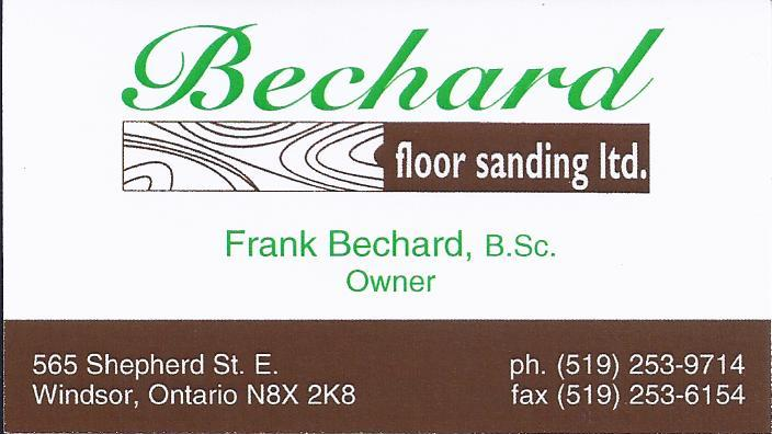Bechard Floor Sanding ltd. logo